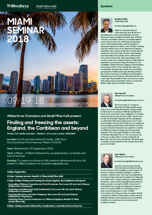 Miami Seminar 2018